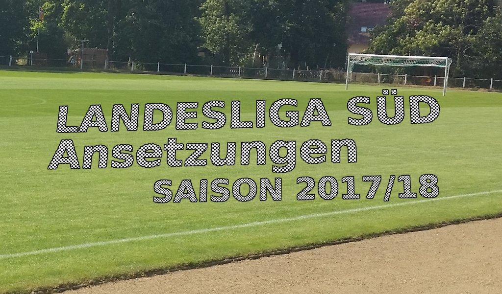 Landesliga-Süd – Spielplan der Hinrunde