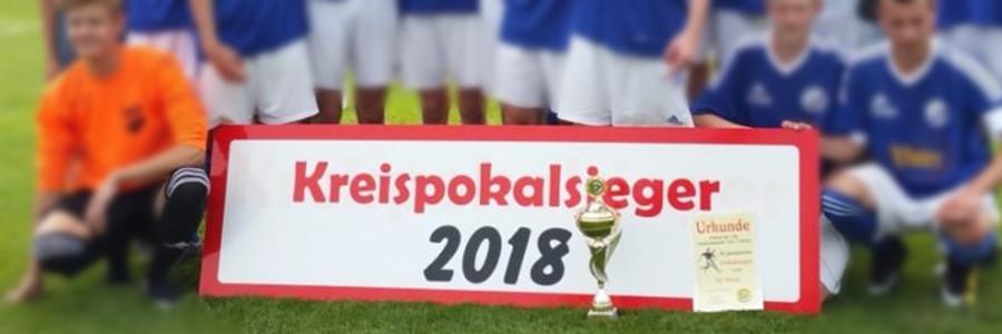 B – Junioren gewinnen Kreispokal im Elfmeterschießen 4:1 !!!